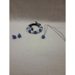 Еarrings, necklace, bracelet set